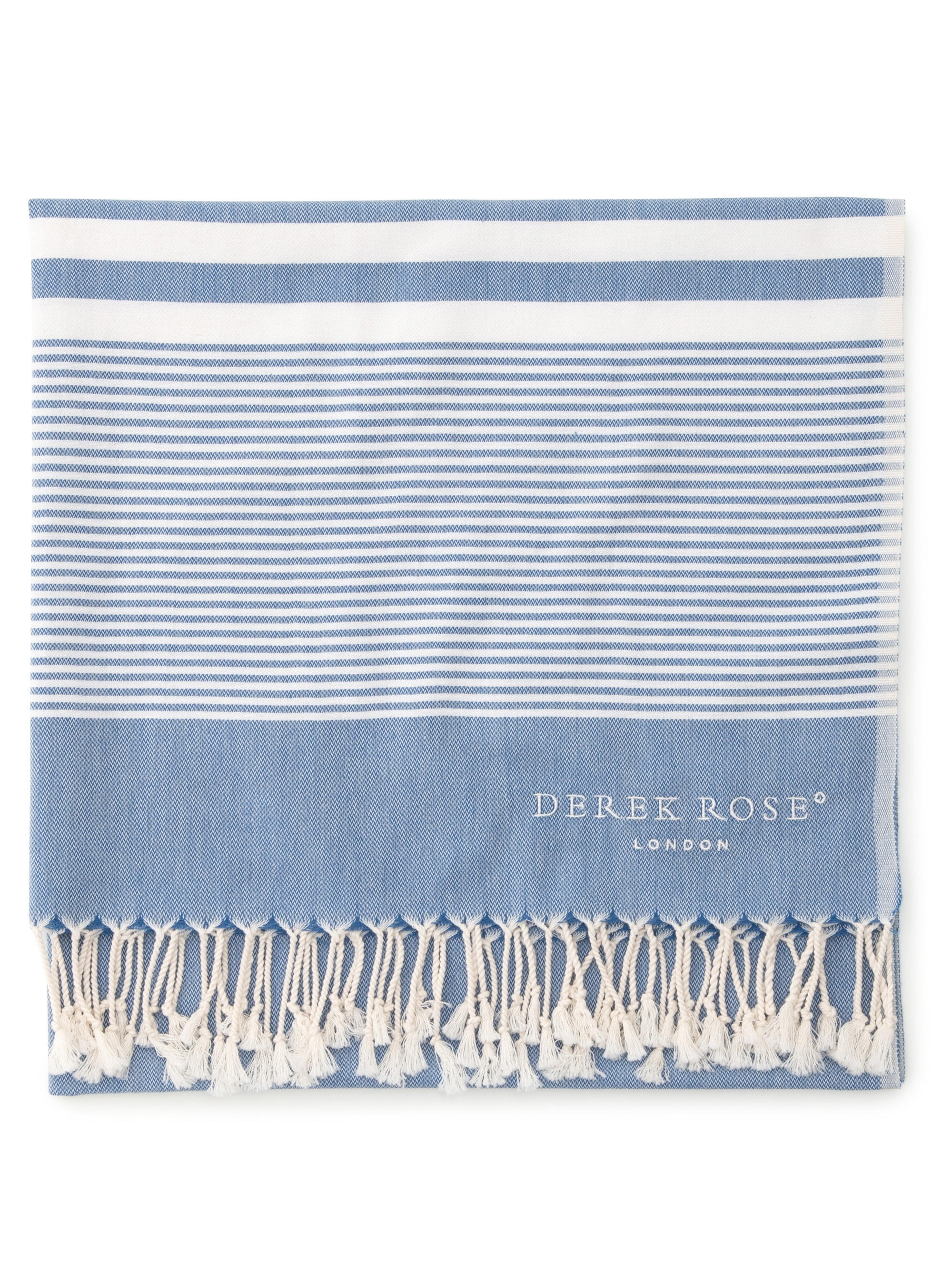Derek Rose Hammam Towel Karinna Pure Cotton Royal