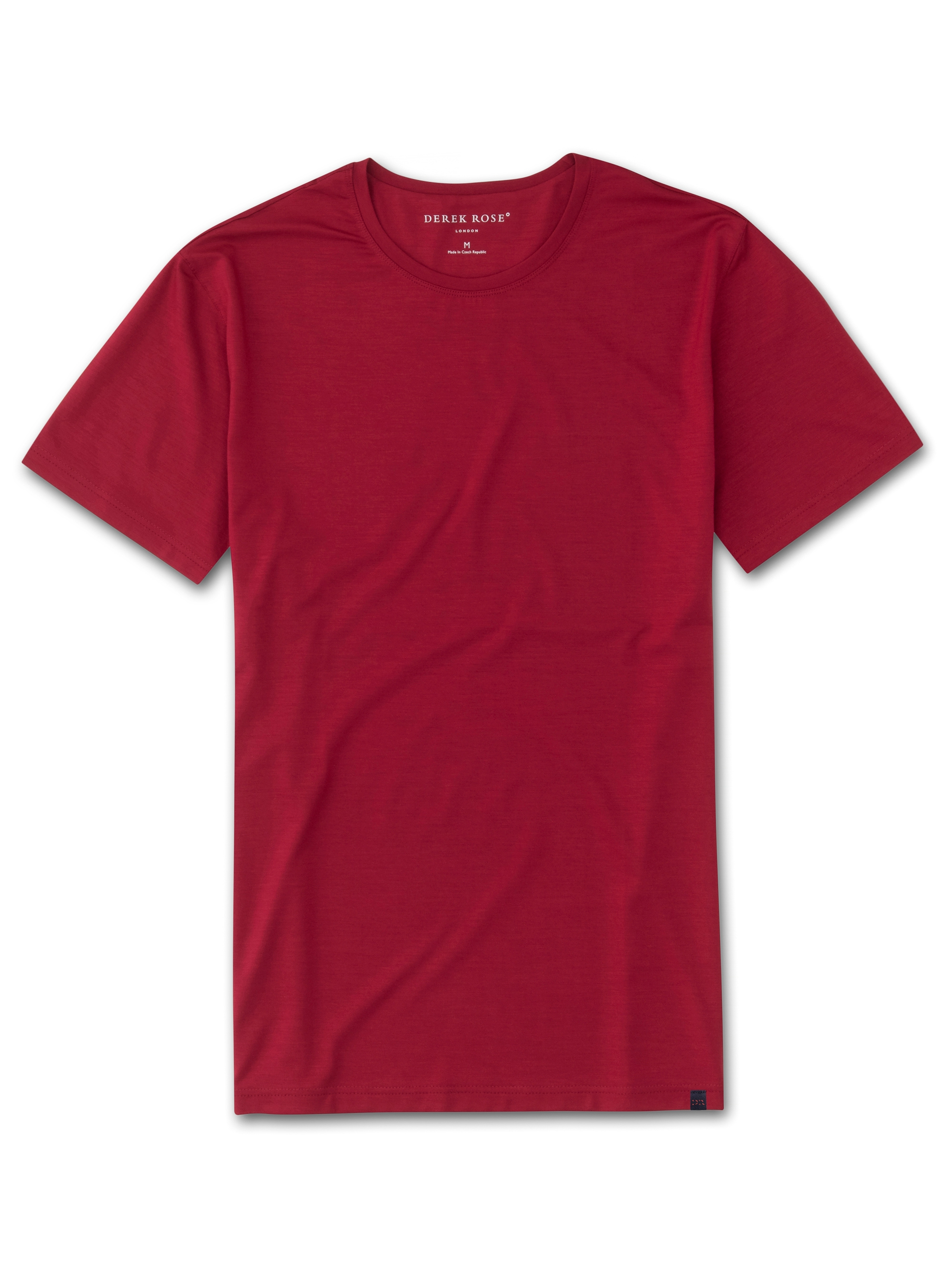 Derek Rose DEREK ROSE MEN'S SHORT SLEEVE T-SHIRT BASEL 8 MICRO MODAL STRETCH RED