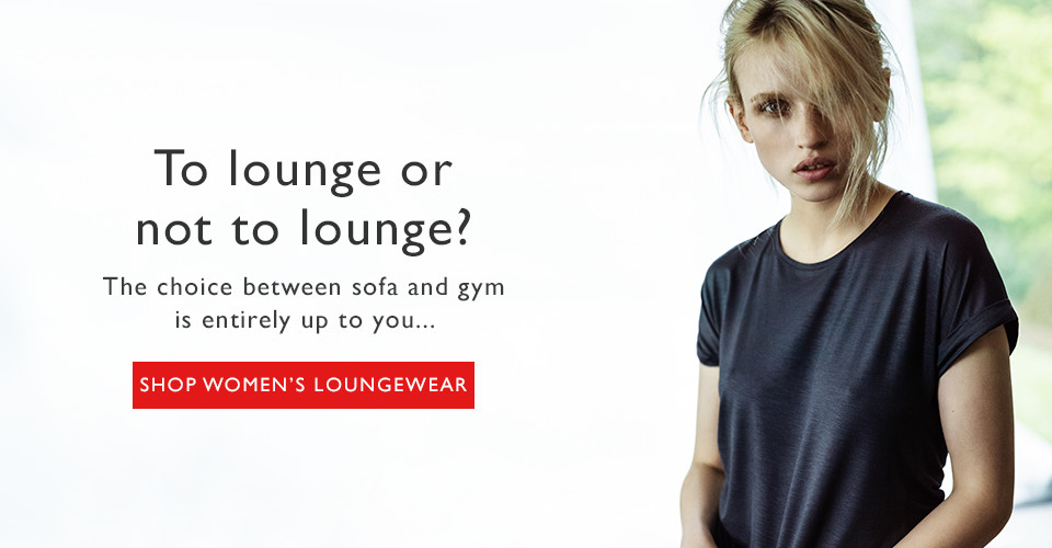 woman wearing Derek Rose loungewear