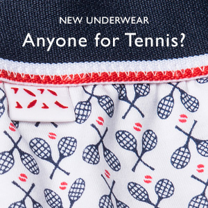 Tennis print mens underwear