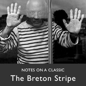 Picasso wearing Breton stripe T-shirt