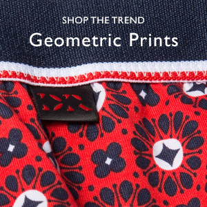 Geometric print on men's boxer brief