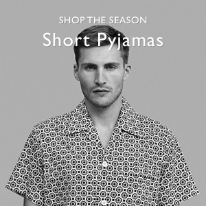Man wearing short pyjamas